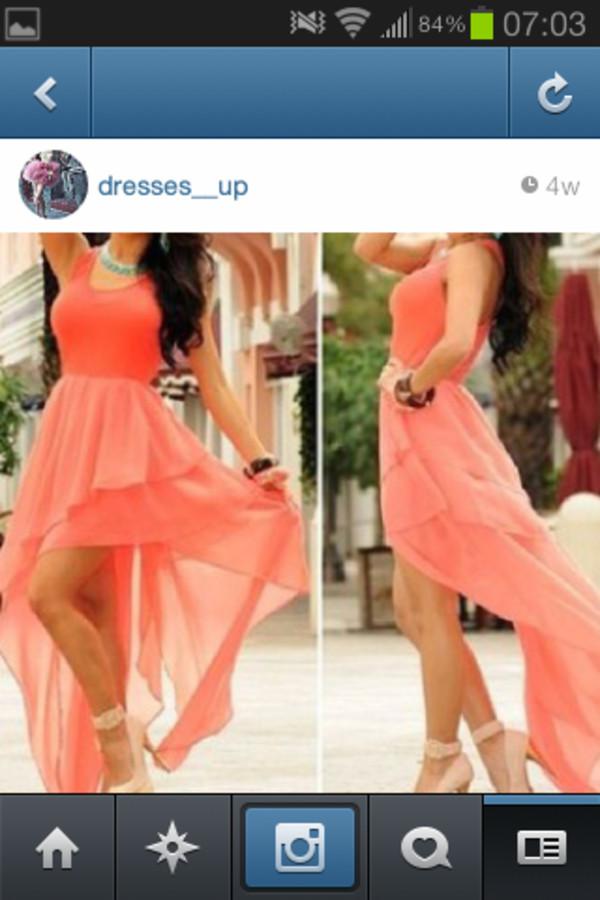 dress high low dress pretty
