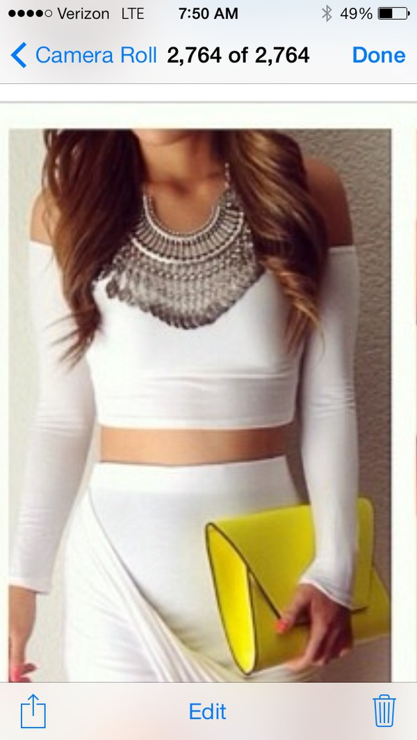 blouse necklace necklace accessories Accessory statement necklace jewerly shirt crop tops crop tops