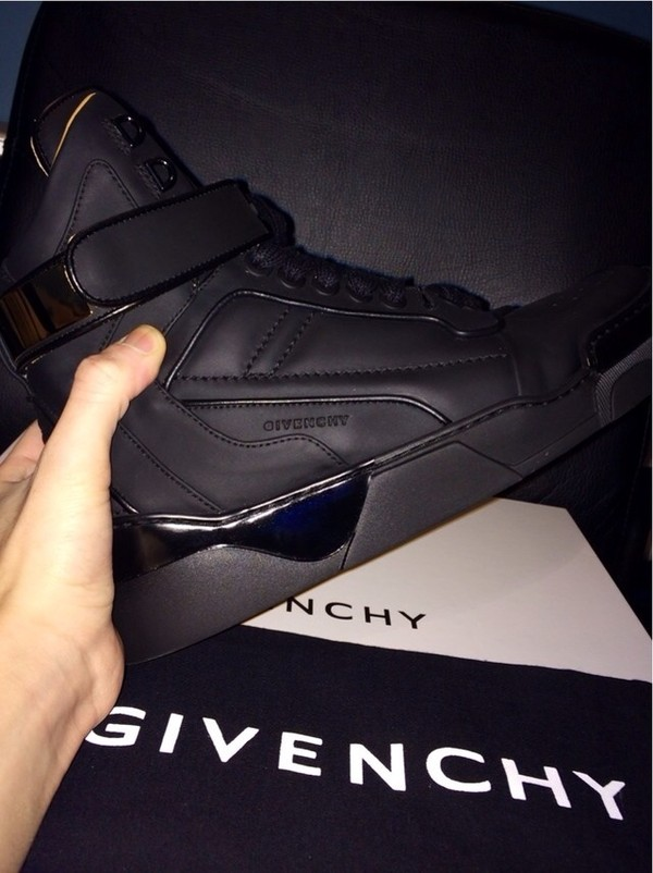 shoes givenchy black high sneaker