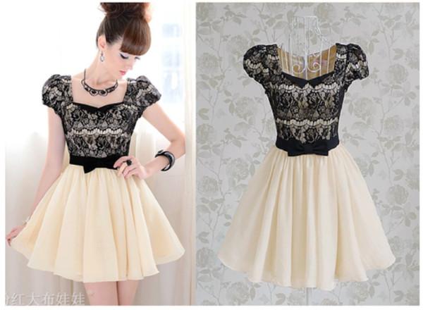 dress lace dress black lace bow white dress black and white