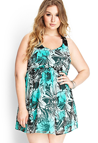 Tropical Floral Crochet Dress | FOREVER 21 - 2000086244