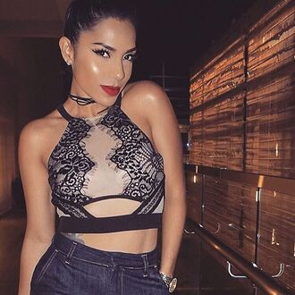 top bralette lace bralette sexy lace bralette lace mesh bralette mesh bra lace croptop\ lace crop top c crop tops angl