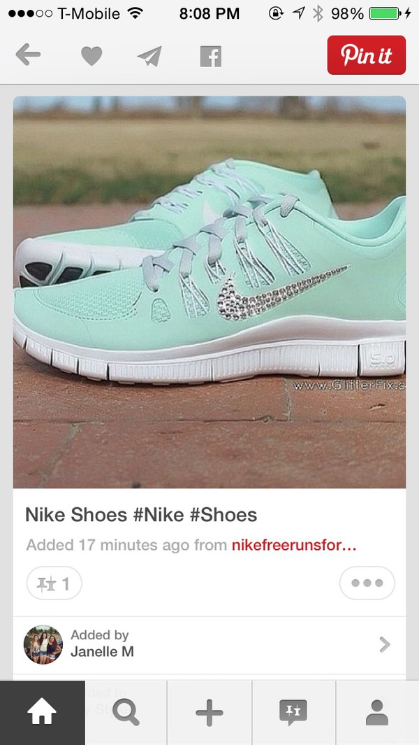 shoes nike blinged out