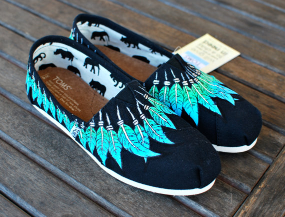 Black Canvas Moccasin TOMS by BStreetShoes on Etsy
