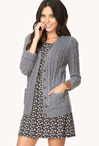 Iconic Cable Knit Cardigan | FOREVER21 - 2000065948