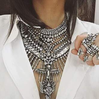 jewels wedding accessories jewelry argent silver collier silver ring fashion ethnic diamonds luxury paris arabic princess fatale queen