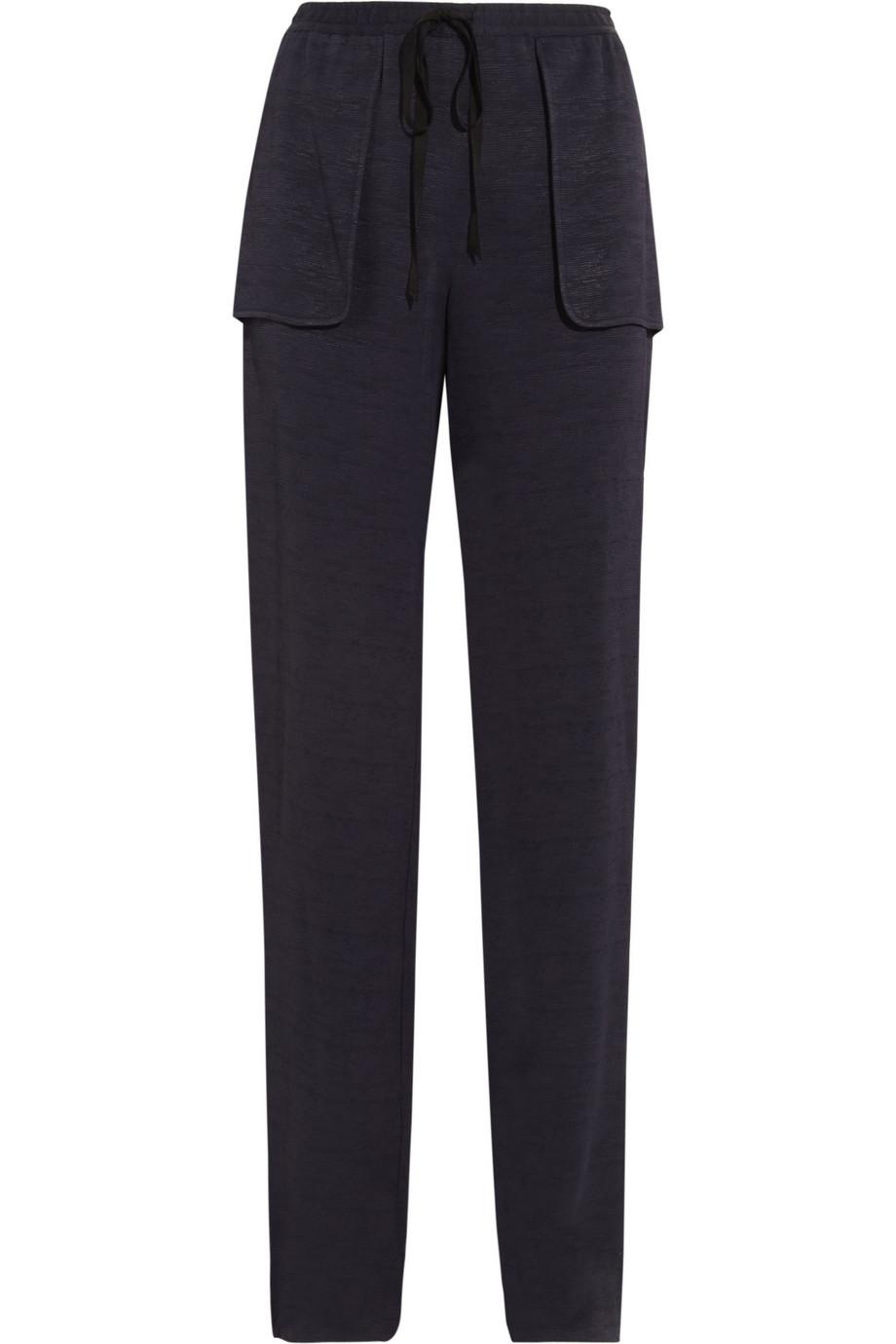 Aruru slub-satin wide-leg pants  | Roland Mouret | THE OUTNET