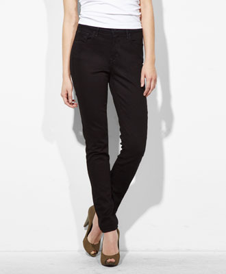 Levi's High Rise Skinny Jeans - Pitch Black - Skinny