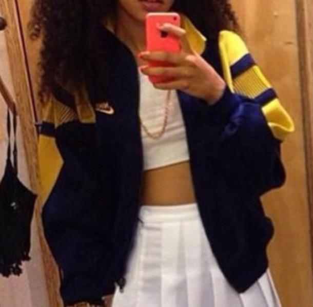 jacket vintage yellow nike jacket nike sweater nike windbreaker