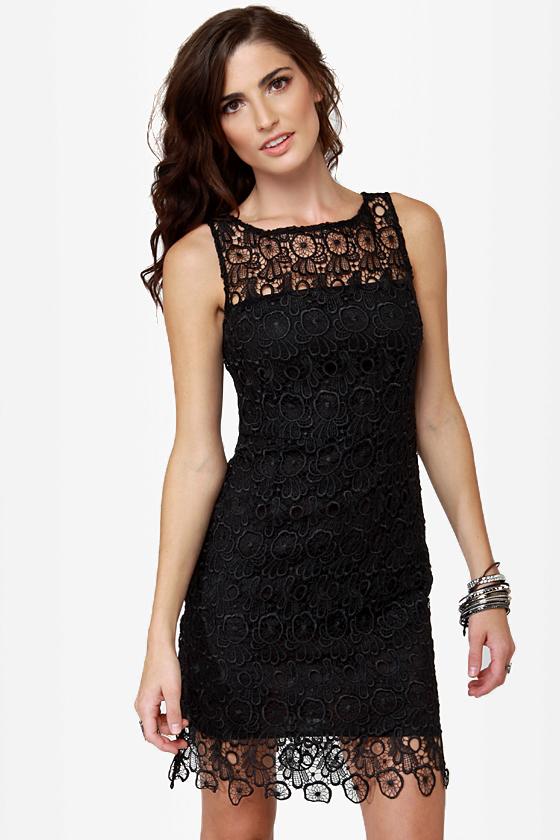 BB Dakota Morrow Dress - Lace Dress - Little Black Dress - LBD - $90.00
