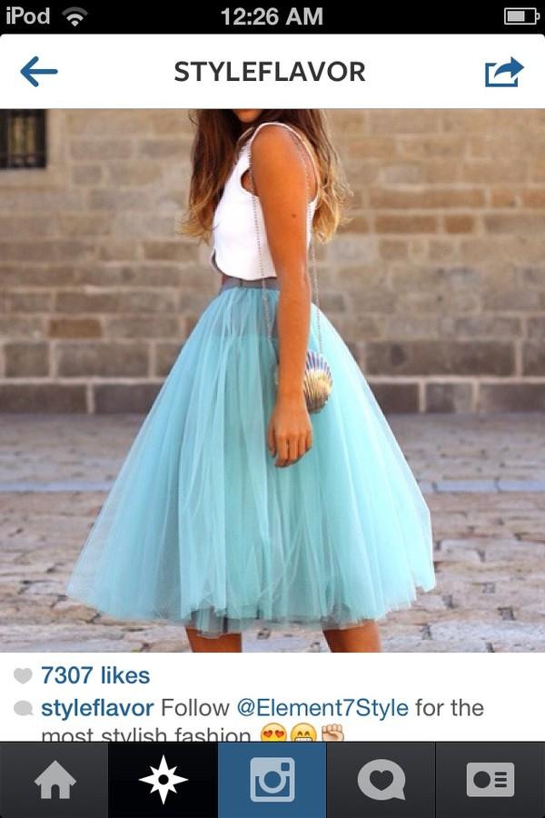 skirt pretty blue neon