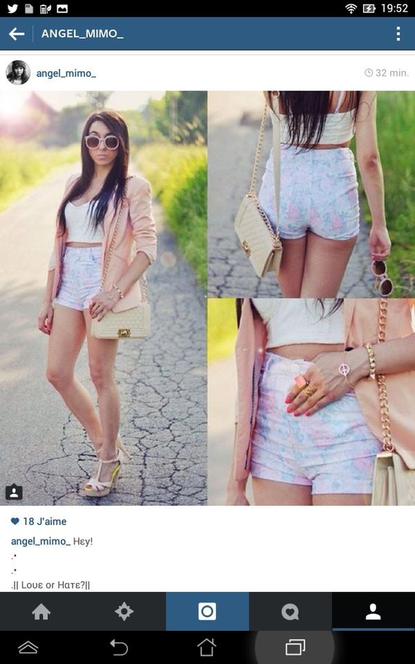 shorts sunglasses jacket shoes t-shirt bag