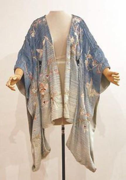 coat kimono robe italian japanese print bedding pajamas jacket cardigan