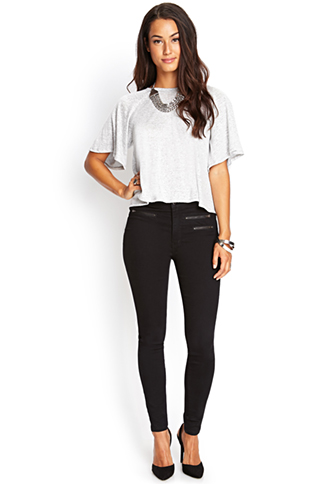 Zippered Midrise Skinny Jeans | FOREVER21 - 2000124328