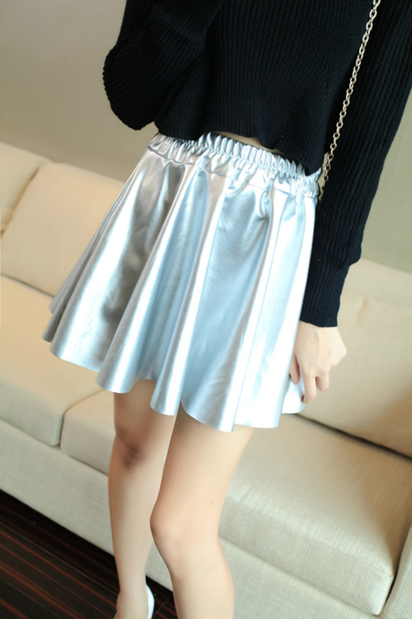 skirt romwe silver