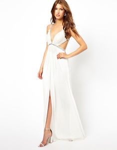 NEW Forever Unique Maxi Dress in Ivory UK10 EU38 US6 RRP £220 | eBay