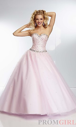 Strapless Ball Gown, Mori Lee Princess Prom Dress- PromGirl