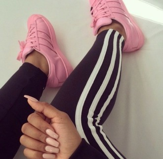 shoes pink adidas adidas shoes black adidas pants pink shoes pants adidas tracksuit bottom leggings trainers swag dope adidas supercolor drenched adidas superstars adidas originals sneakers causal shoes