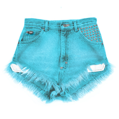 Hipster Blue Fray Shorts - Arad Denim