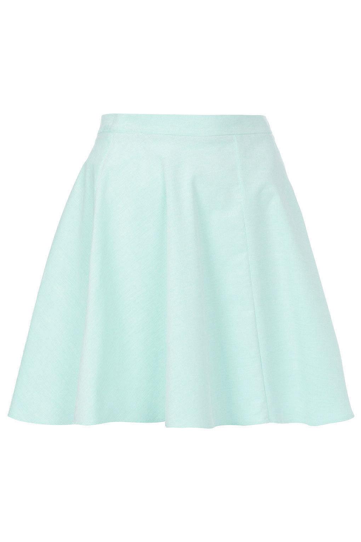 Mint Baby Cord Skater Skirt - Skirts - Clothing - Topshop on Wanelo