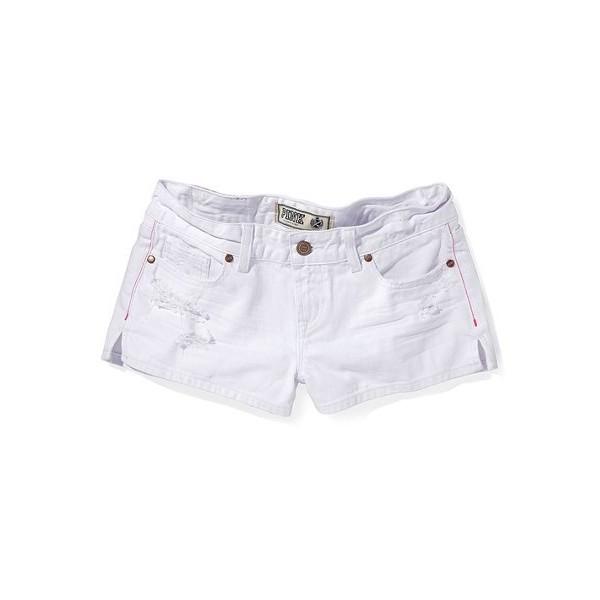 Victoria'S Secret White Denim Short - Polyvore