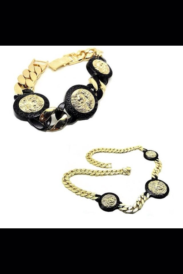jewels chain jewelry versace versace black gold necklace