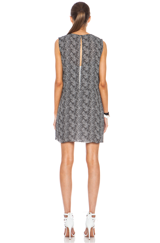 Jenni Kayne|Silk Overlay Dress in Black & White