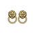 Lion Head Earrings (AS SEEN IN GRAZIA) - ✰ ☮ ✝ Dollface London Online Jewellery Boutique ✝ ☮ ✰
