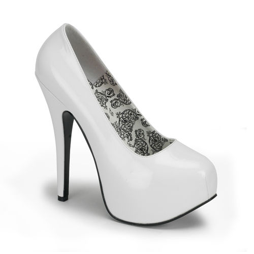 Bordello Teeze 06 White Paisley Pin Up Platform Stiletto Heels Pumps Women Shoes | eBay