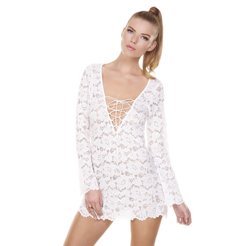 Women Bathed Suit Sexy Lace Crochet Bikini Swimwear Cover Up Beach Dress Costume | eBay