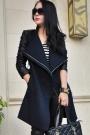 Long Retro V-neckline Woolen Coat - OASAP.com