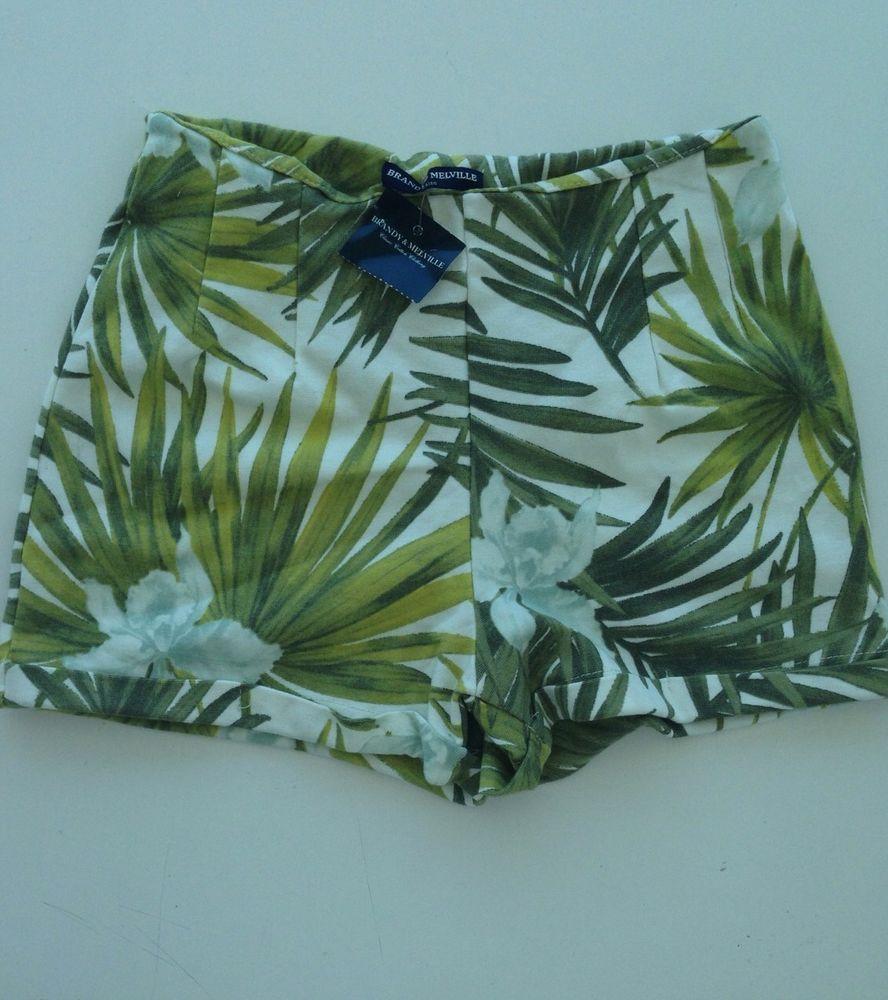 Brandy Melville Palm Print Bruna Shorts   eBay