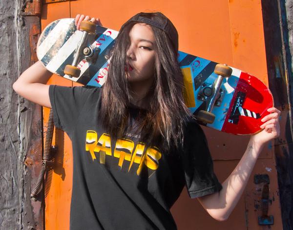 t-shirt paris skateboard alex and chloe alex & chloe skater alexa chung