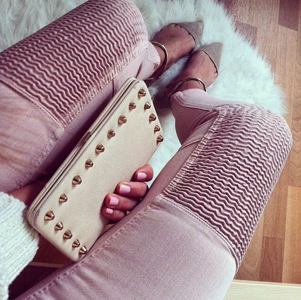 jeans pink girly zara topshop fashion pink by victorias secret ribbed spring outfits summer shoes bag