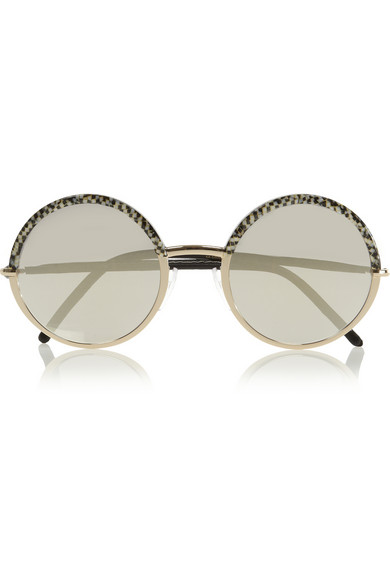 Cutler and Gross Round-frame acetate and metal mirrored sunglasses NET-A-PORTER.COM