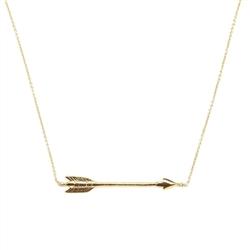 Chibi Jewels Horizontal Arrow Necklace - Gold | Orange and Pear