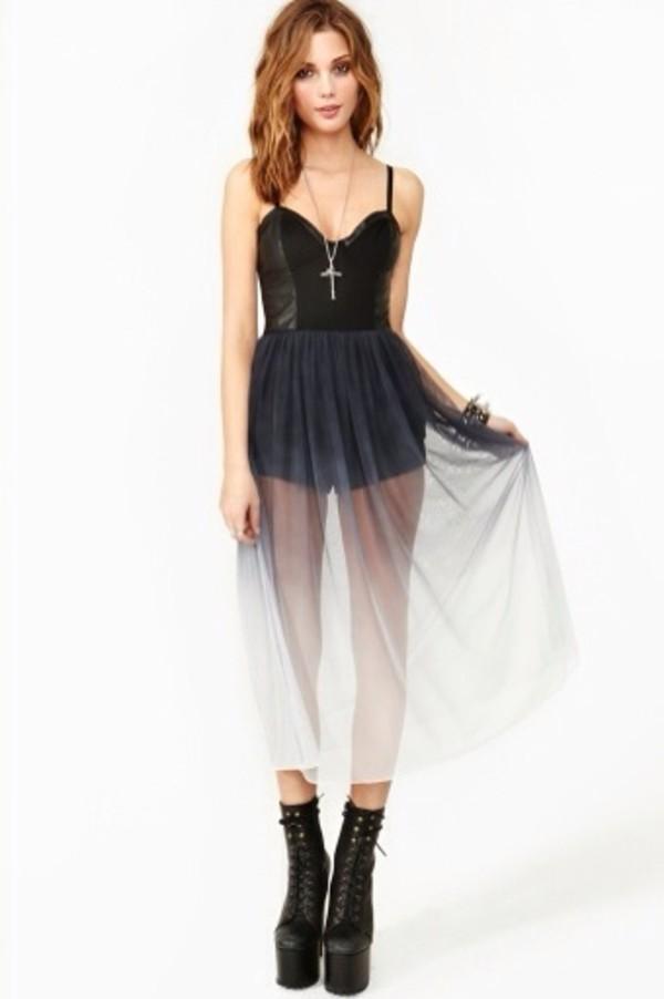 skirt long skirt black ombre ombre dress dress