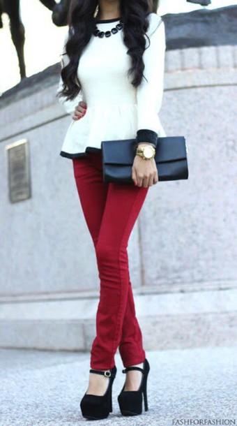 blouse black and white fashion