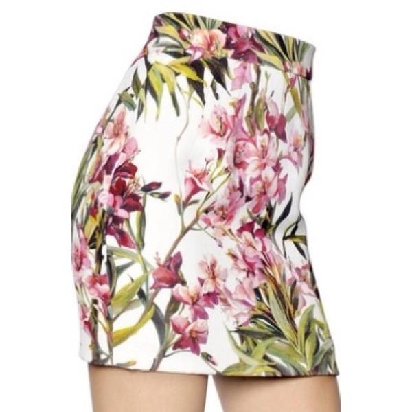 skirt flower pattern mini skirt colorful