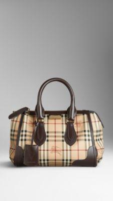 Small Haymarket Check Tote Bag | Burberry