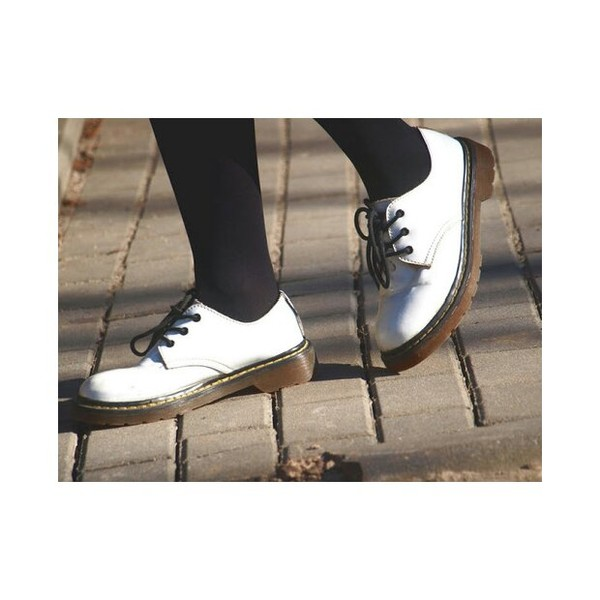 shoes DrMartens white black black and white low shoes flats grunge indie sick