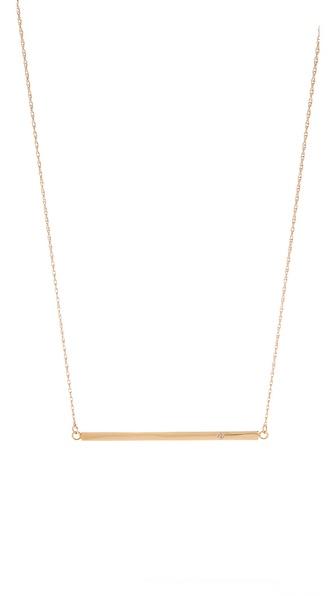 Jennifer Zeuner Jewelry Horizontal Bar Necklace with Diamond   SHOPBOP