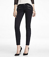 BRUSHED SATEEN HIP ZIP ANKLE PANT   Express