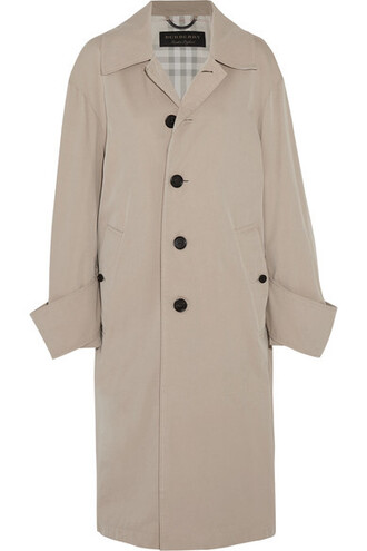 coat oversized cotton beige