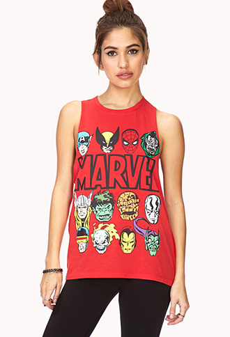 Conversation-Starting Marvel Muscle Tee   FOREVER 21 - 2000127406