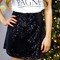 Black sequin skater skirt | uoionline.com: women's clothing boutique
