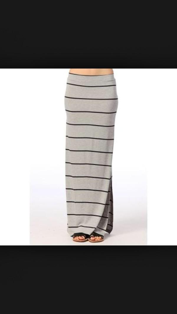 skirt stripes long