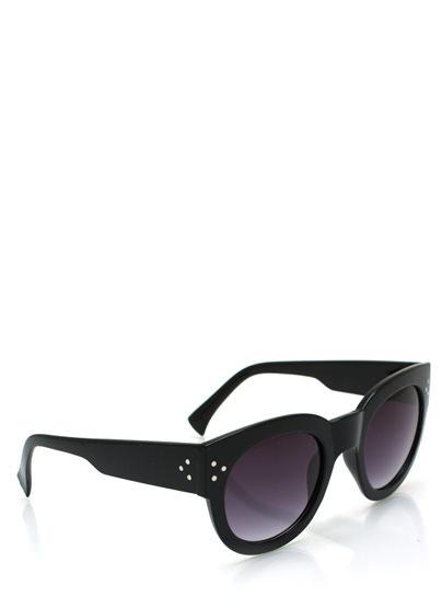 GJ   Chunky Kitty Cat Eye Sunglasses $5.50 in BLACK BURGUNDY DKTORTOISE LTTORTOISE - Sunglasses   GoJane.com