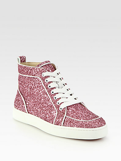 Christian Louboutin - Rantus Orlato Glitter Sneakers - Saks.com