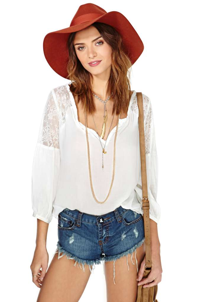 Jardin Lace Blouse - Ivory   Shop Clothes at Nasty Gal